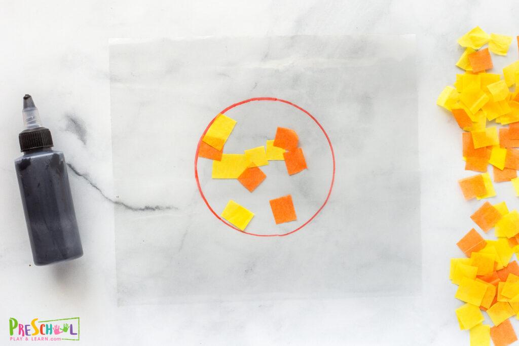 Sun art and craft for preschoolers