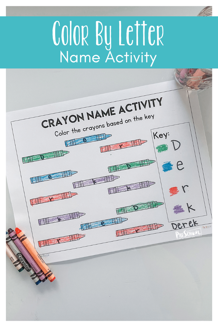 Cute name recognition activity with a FREE back to school worksheet for preschoolers to learn the letters in their names.