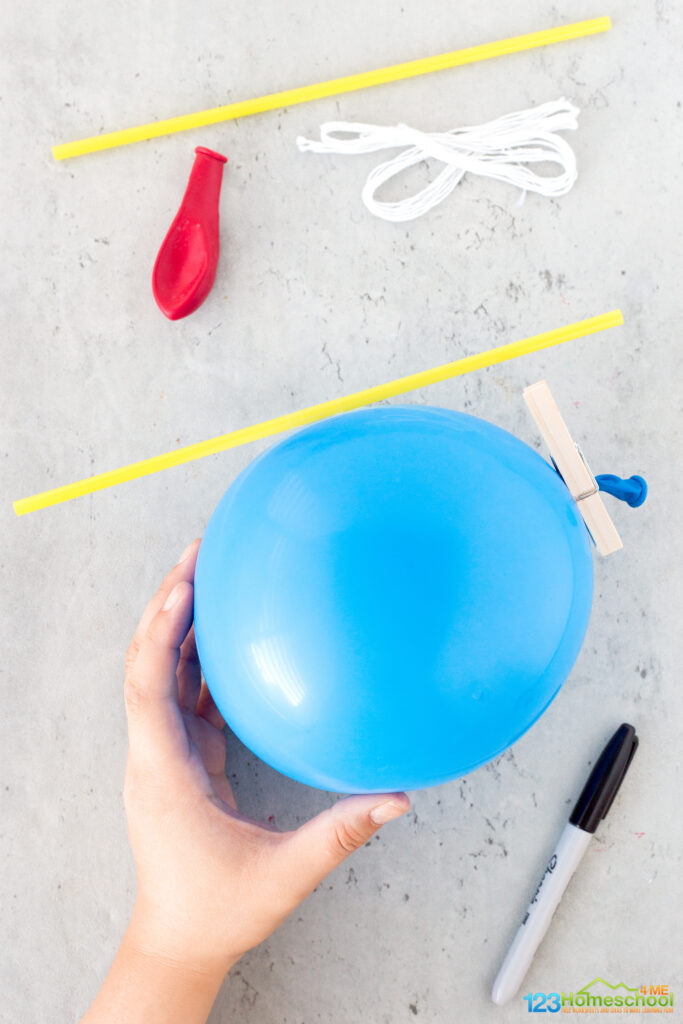 balloon and straw experiment