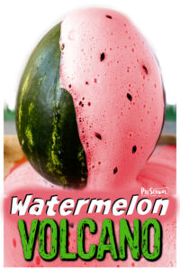 Looking for fun things to do with watermelon for your upcomingwatermelon themeor National Watermelon Day on August 3rd? Kids will go nuts over thiswatermelon volcano project! Thiswatermelon experiment allows kids to witness the chemical reaction when baking soda and vinegar mix . This summer activity for kids is such a fun and easy volcano experiment perfect for toddler, preschool, pre-k, kindergarten, first grade, and 2nd graders to try.