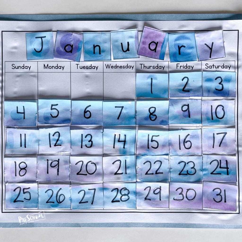 Days of the week for preschoolers printables