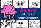 Make animals with cute, FREE dot to dot worksheets! These connect the dots printable practice counting while strengthening fine motor skills.