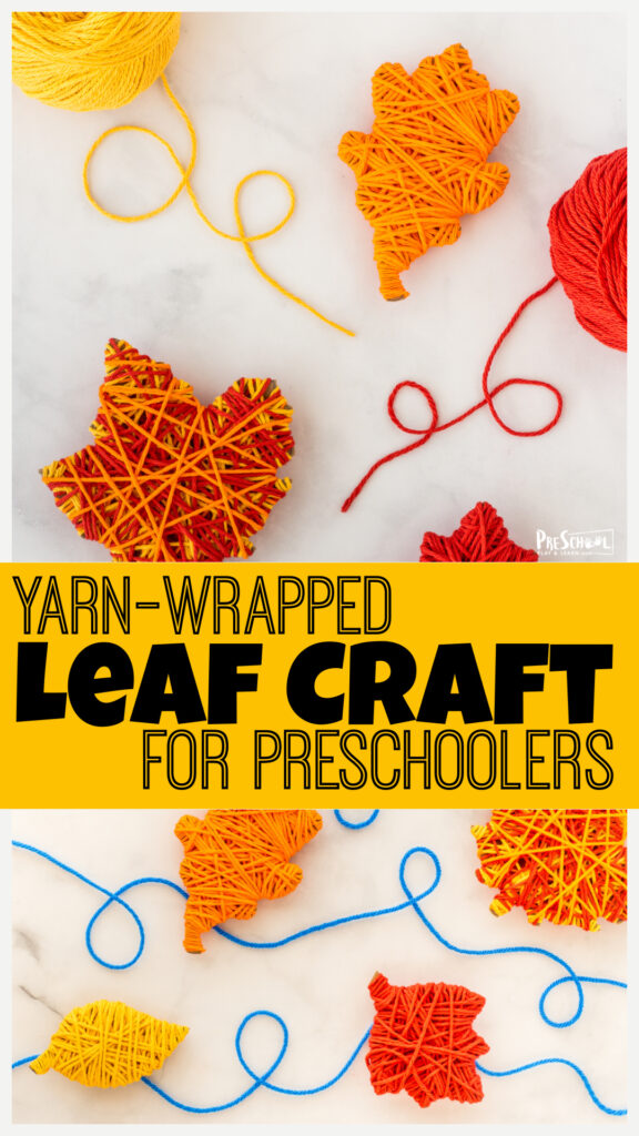 Celebrate Autumn with EASY fall leaf crafts for preschoolers. Thispretty craft for toddlers and kids uses our FREEleaf printable template.
