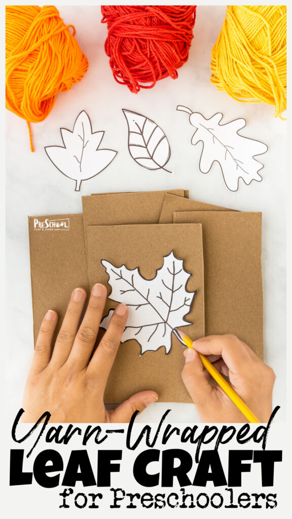 Celebrate the arrival of Autumn and the changing seasons with these super cute fall leaf crafts for preschoolers. Thisleaf crafts for kidsfrom toddler, preschool, pre-k, kindergarten, and more is a great way to work on coordination and motor skills while making simple fall projects for preschoolers.Simply print ourleaf printable templates and grab some yarn to make these prettyleaf crafts for toddlers.