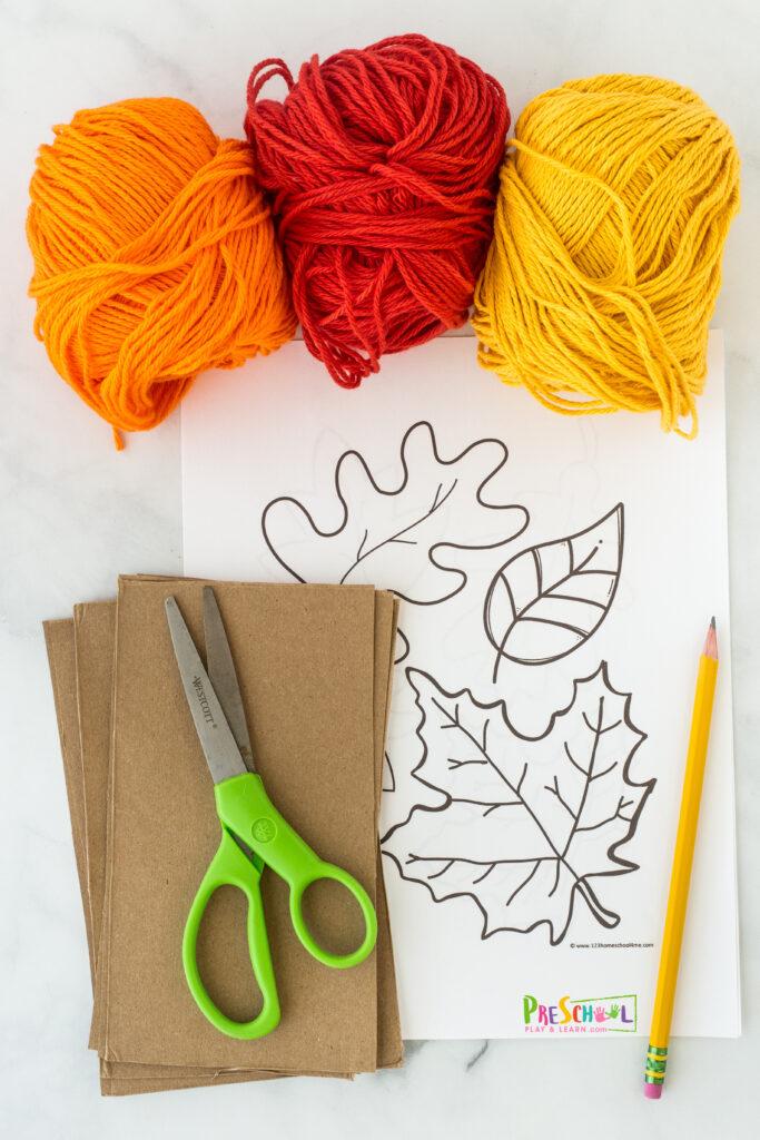 Fall leaf templates
