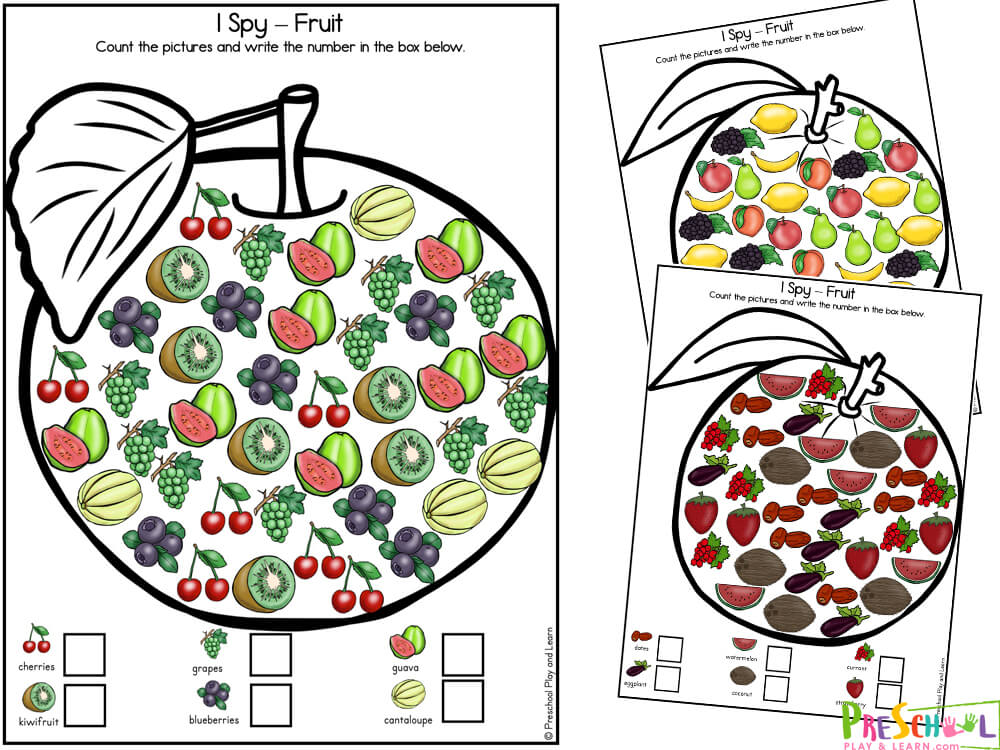 Fruits Worksheet for Preschool