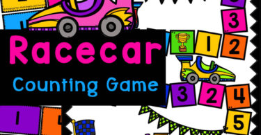 Grab this FREE Race Car Number Recognition Game to work on preschool counting skills. Play fun math numbers game with preschoolers.
