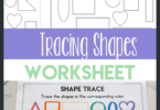 This shape tracing worksheet is the perfect little evergreen tracing shapes preschool activity that you can use over and over through the year. Your toddler, pre-k, and kindergarten students can work on identifying and tracing shapes with a simple no-prep activity that uses a free printable shape tracing worksheet. Simply print tracing shapes worksheets for preschool pdf and you are ready to play and learn with ashapes activity.