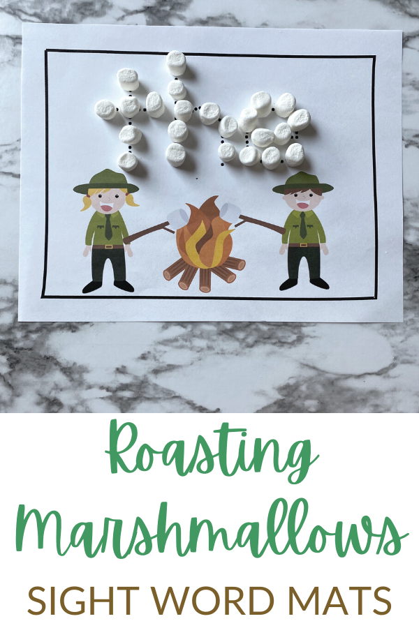 Kids will enjoy the fun, summer themesight words activity that will help them learn more about preschool sight words. Simply print thesight word worksheets and you are ready to play and learn with thiscamping activity for kids.