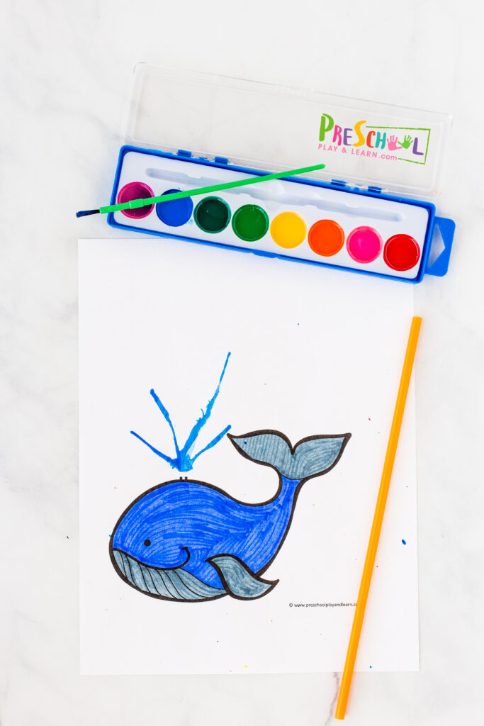 Whale craft for preschoolers