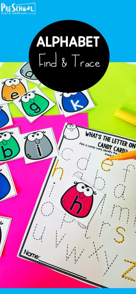 Kids will have so much fun choosing candy alphabet cards and tracing their letters with these free printable preschool worksheets tracing letters.Use theseletter tracing worksheets with preschool, pre-k, and kindergarten as a fun letter recognition activity for preschoolers.Simply print preschool alphabet worksheets pdf and you are ready to play and learn your ABCs.