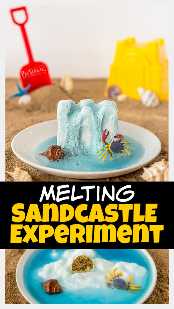 Just because it's summertime doesn't mean the learning has to stop. In fact, now is the time to incorporate lots of fun, engagingsummer activities for kids! Thissandcastle activities allow toddler, preschool, pre-k, kindergarten, first grade, and 2nd graders to learn somesummer science. Include this baking soda and vinegar experiment in your upcoming beach themefor an outrageoulsy funkids activity.