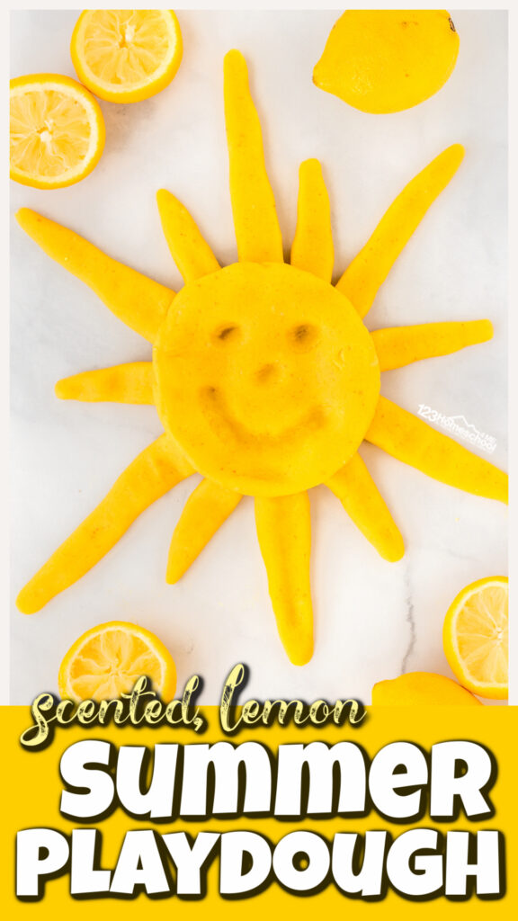 Nothing says summer like a big refreshing glass of lemonade. Thissummer activity for kids uses that fun lemon smell in batch of easy-to-makelemonade playdough. Thislemon playdough recipe is quick and easy for toddler, preschool, pre-k, kindergarten, first grade, 2nd grade, and 3rd graders to play with. You will love thisplaydoh recipe for children!