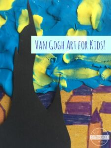 van gogh stary night art project for kids