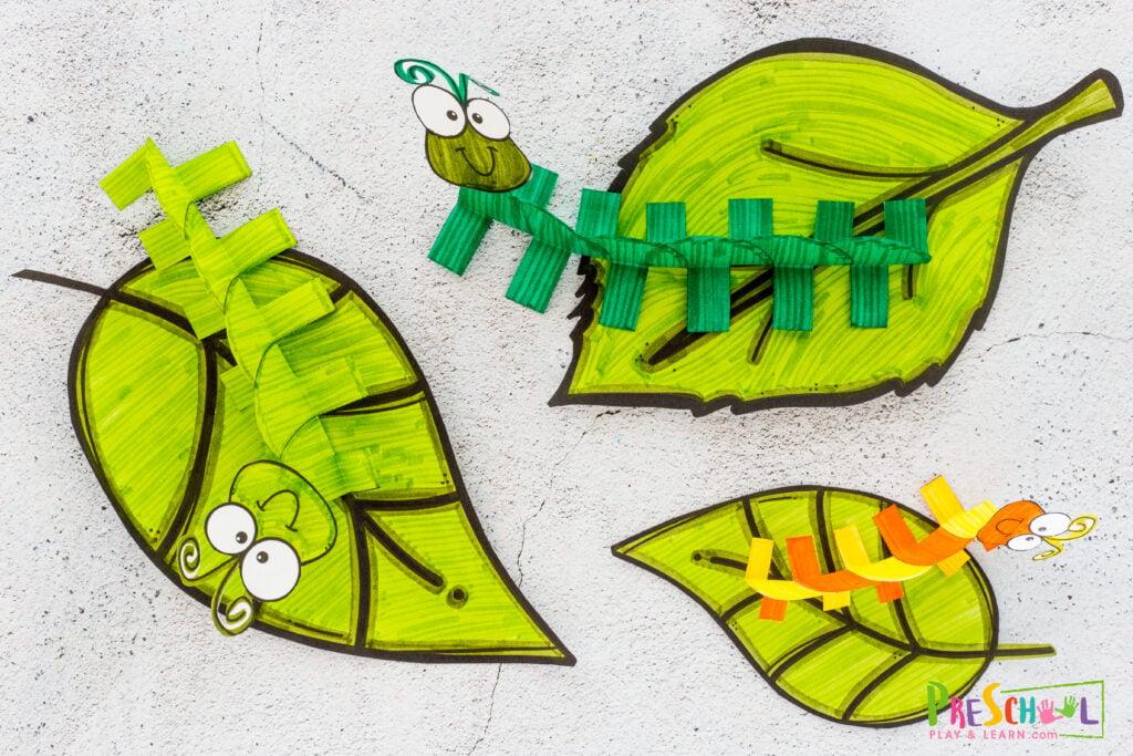 Caterpillar activities for preschoolers