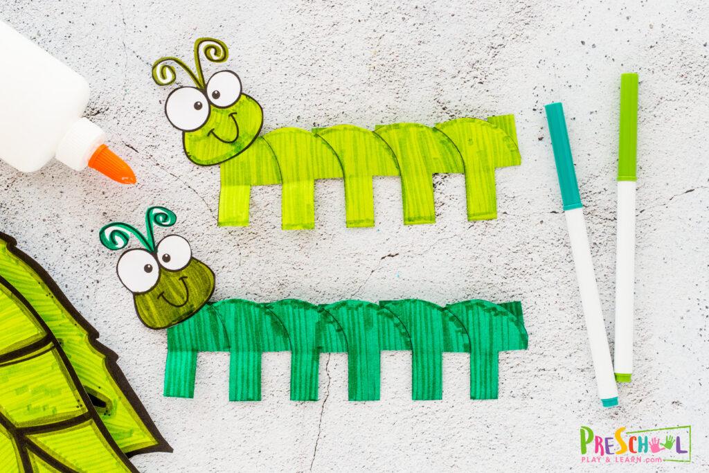 Caterpillar art preschool