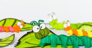 Caterpillar art preschoolers