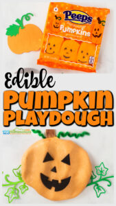 edible Pumpkin Playdough with peeps