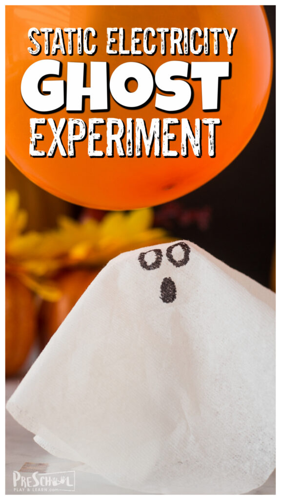 This silly and funstatic electricity experiment is a great way to play and learn about science while having fun with halloween activities. All you need to try thisghost experiment is a balloon, tissue paper, and a marker. ThisHalloween science experimentis fun for toddler, preschool, pre-k, kindergarten, first grade, and 2nd graders too.