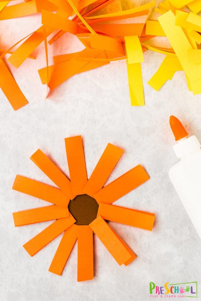 Sunflowers Craft for Preschoolers