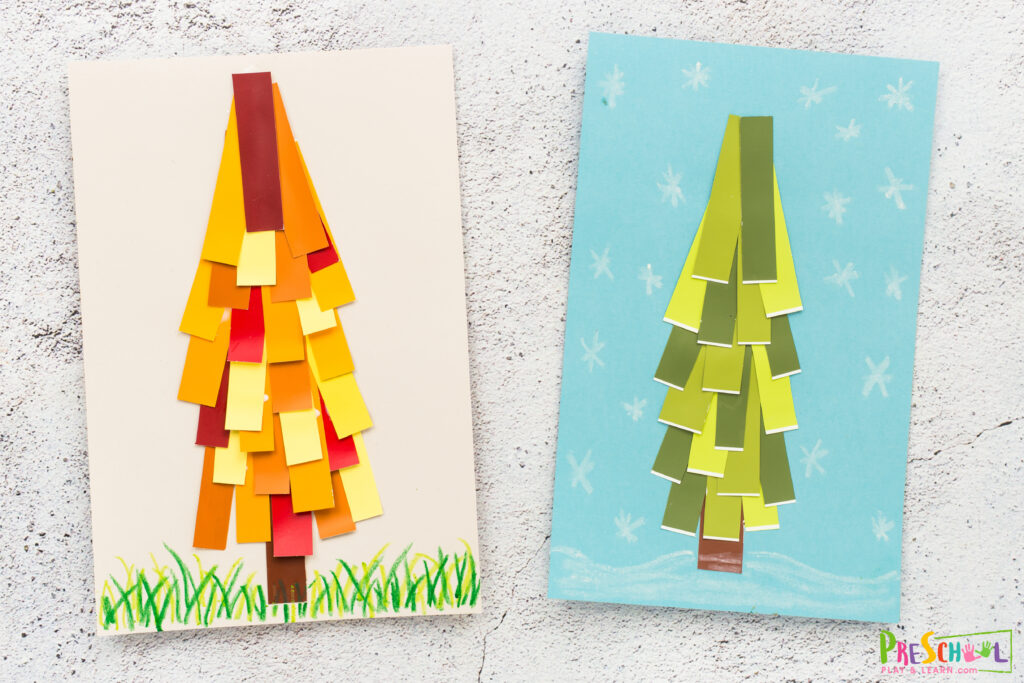 Tree arts and crafts for preschoolers