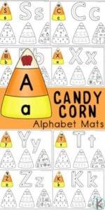 candy corn alphabet worksheets