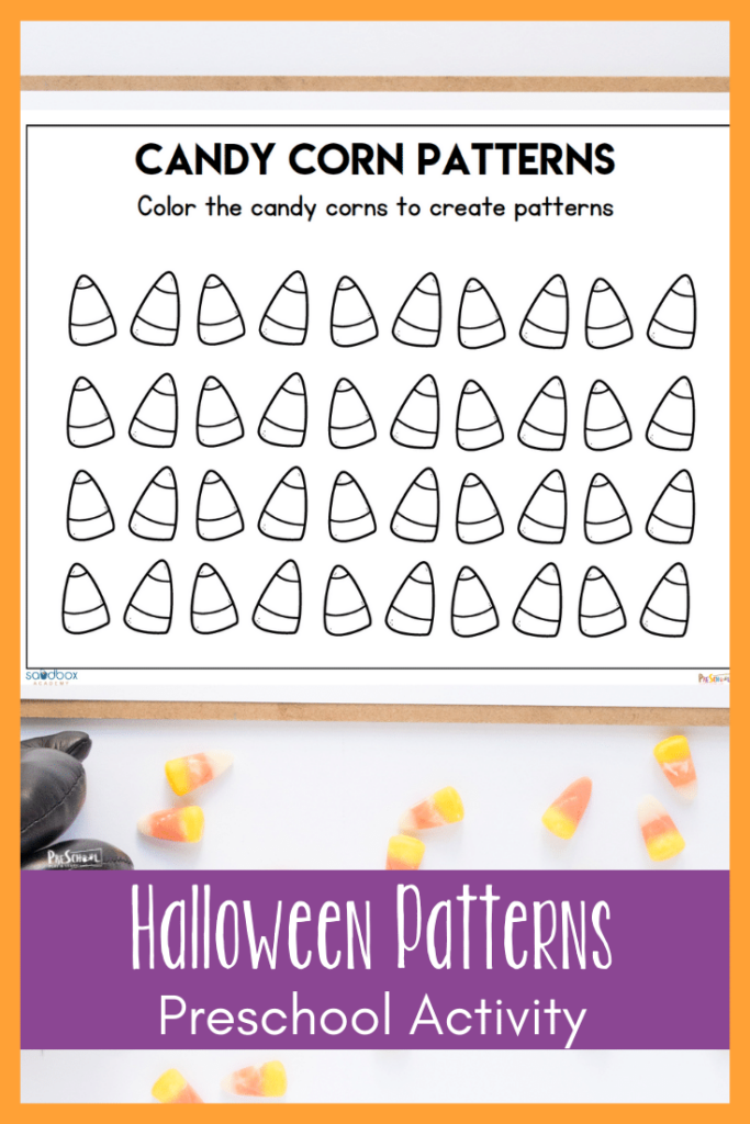 Your preschoolers will absolutely enjoy this simple halloween preschool worksheet. Patterns are such a valuable skill for your preschooler to learn as it is the basis for all math and reading. Simply print thehalloween worksheets for a fun, hands-oncandy corn math for preschool, pre-k, and kindergarten age children!