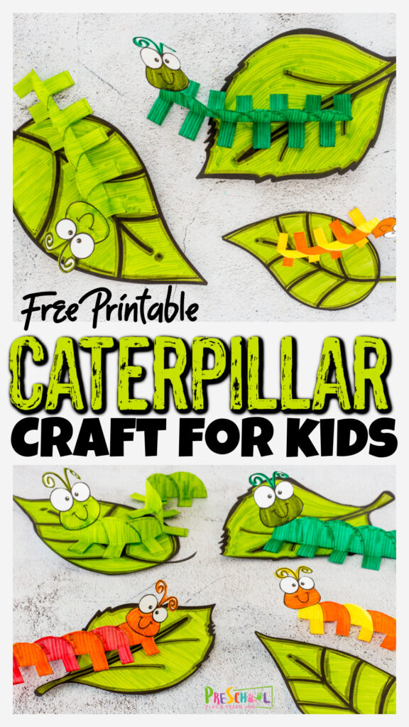 Whether you are studying how caterpillars turn into butterflies celebrating these cute insects, or just looking for a fun bug craft for kids, this free printablecaterpillar craft for preschoolers is perfect! Print thecaterpillar printable and follow our simple step-by-step instructions to learnhow to make a caterpillar with a simple paper craft. Thiscaterpillar art preschool, pre-k, toddler, kindergarten, and first graders is perfect for a spring craft too!