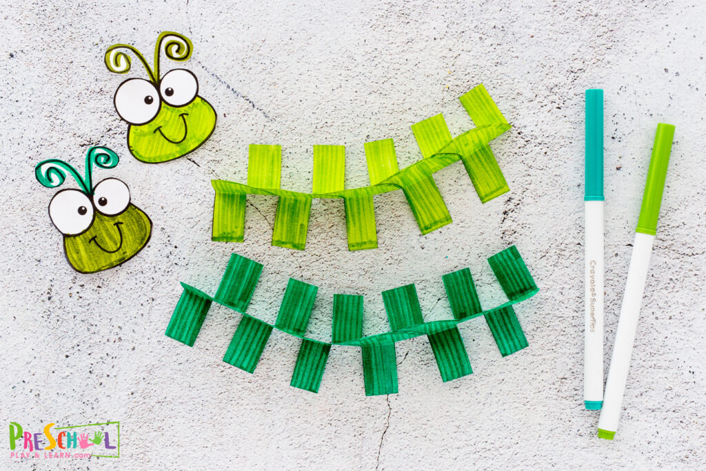 caterpillar paper craft