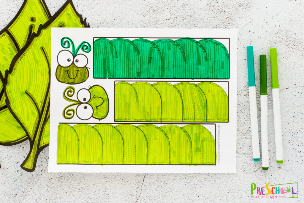 free printable caterpillar template