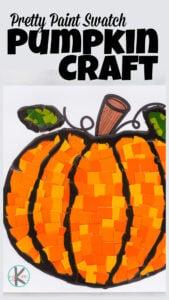 paint swtach Pumpkin Craft for Preschoolers